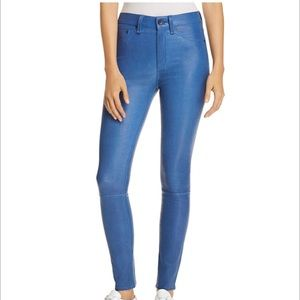 Rag Bone stretch leather leggings pants jean $995